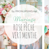 #Inspiration : Mariage rose peche vert menthe