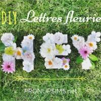 #DIY : des lettres  fleuries pour ton mariage
