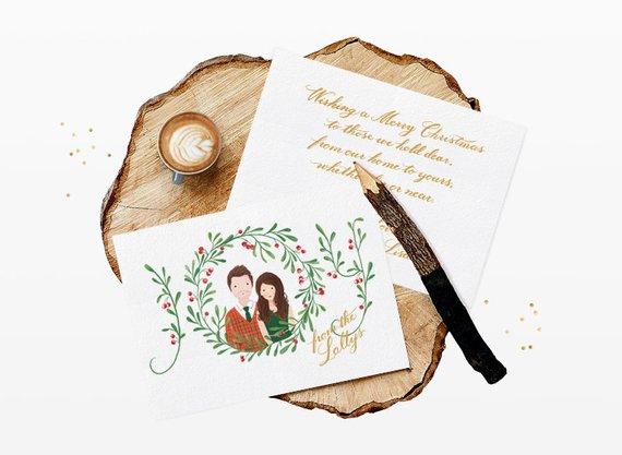 carte de voeux fin d'année mariage