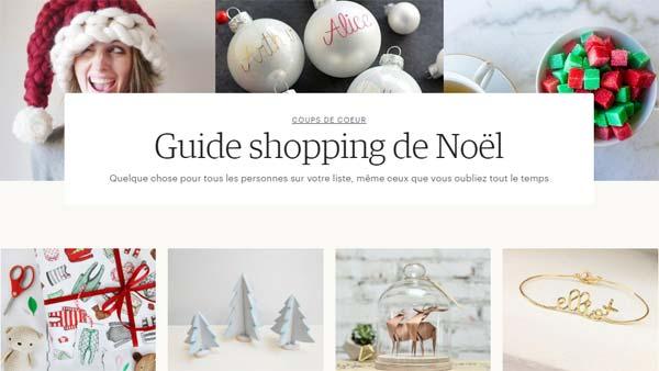 guide shopping noël etsy