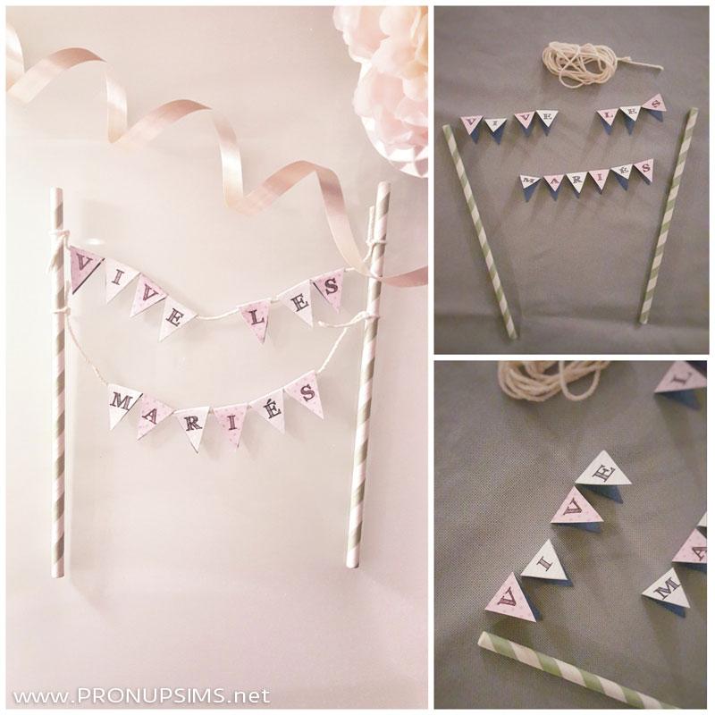 #DIY : Le cake topper fanions pour ton gâteau de mariage