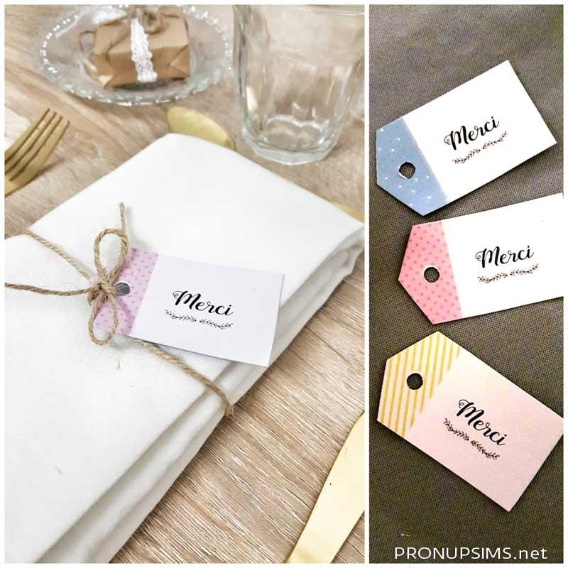 #DIY : Des étiquettes de remerciements pour ton mariage