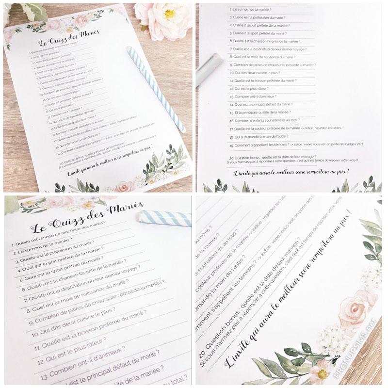 #DIY : Le quizz des mariés pour animer ton mariage