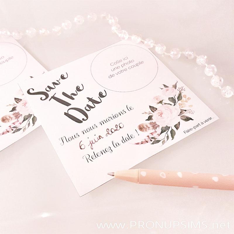 #DIY : Des Save-The-Date personnalisables pour ton mariage