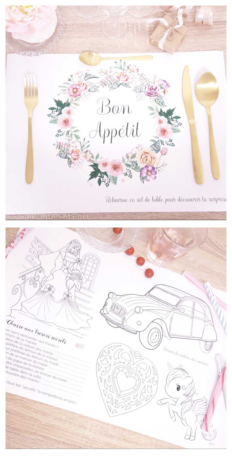 #DIY : Des sets de table à colorier pour enfant pendant le mariage