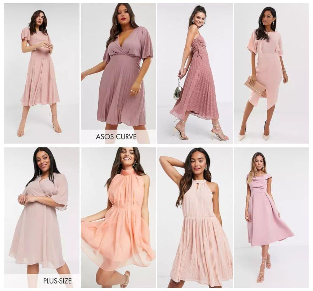 robes demoiselle d'honneur courte rose mariage témoin