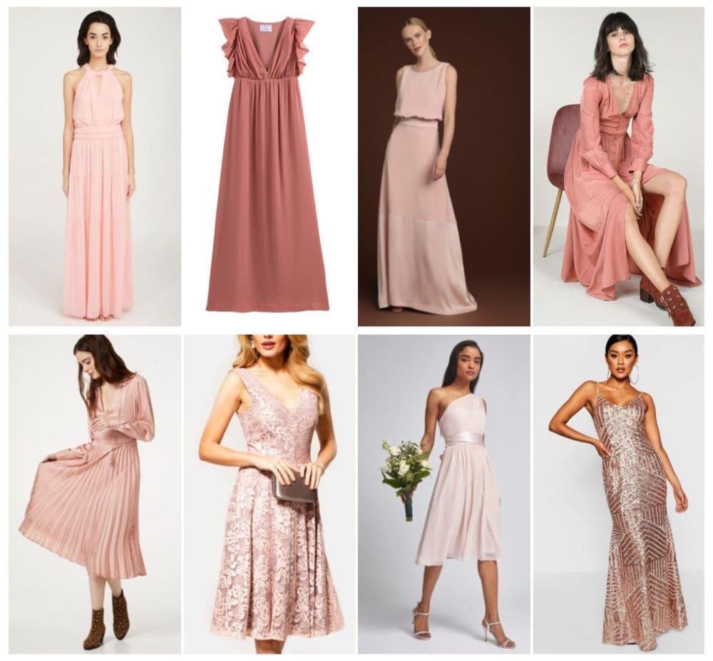 robes demoiselle d'honneur rose invités témoin mariage courte longue