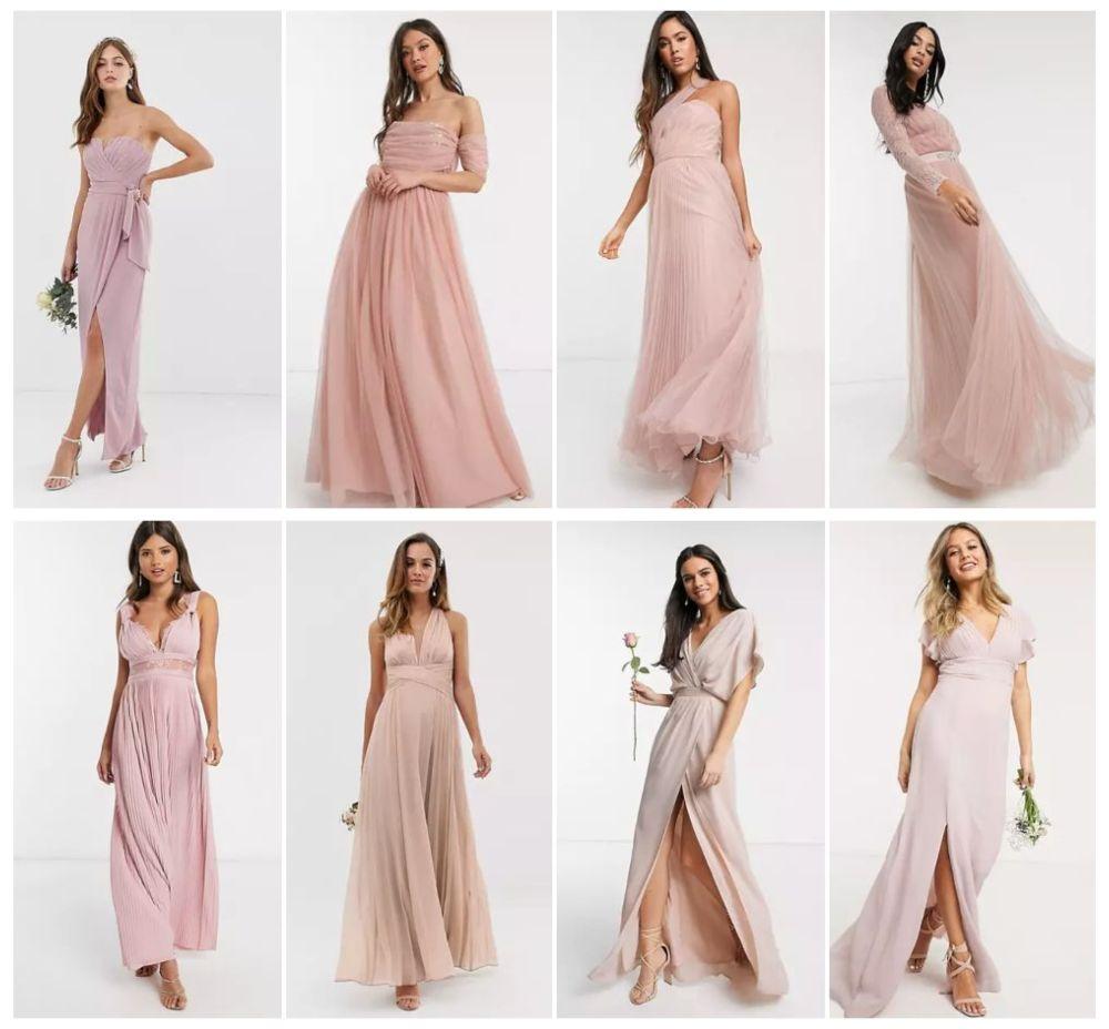 robes demoiselle d'honneur rose