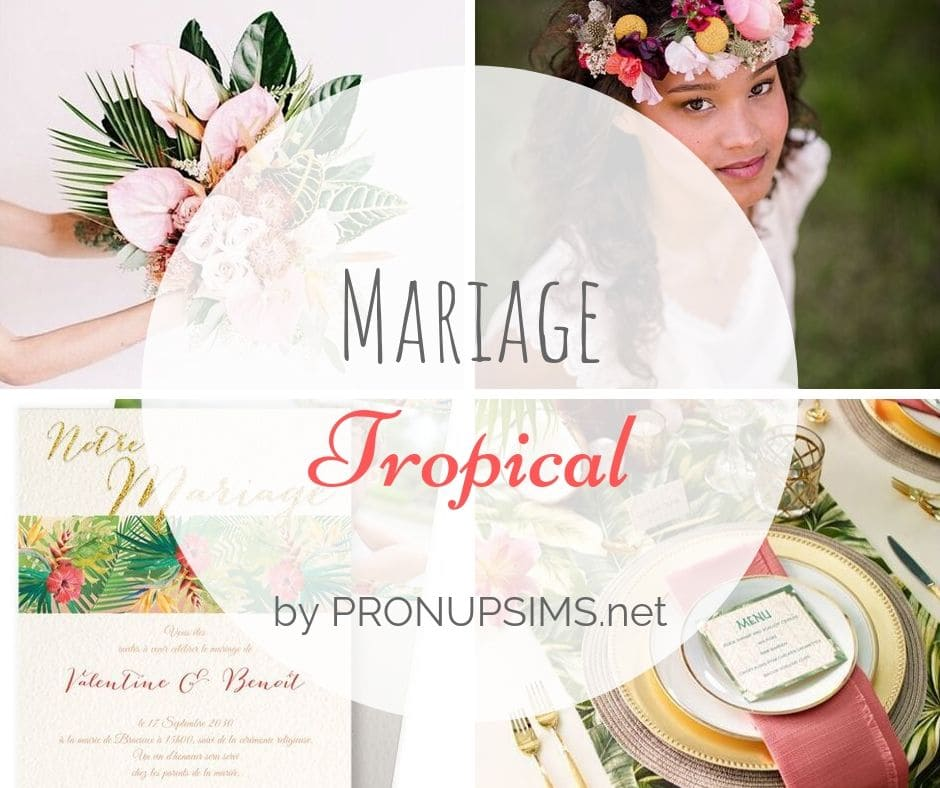 #Inspiration : Mariage tropical