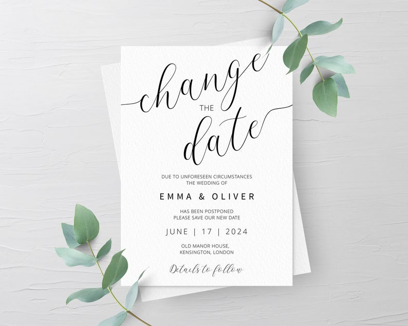 mariage covid change the date