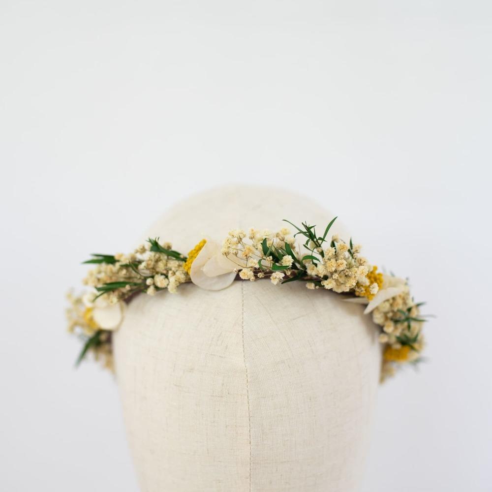 inspiration thème mariage bohème pronupsims couronne fleurs séchées