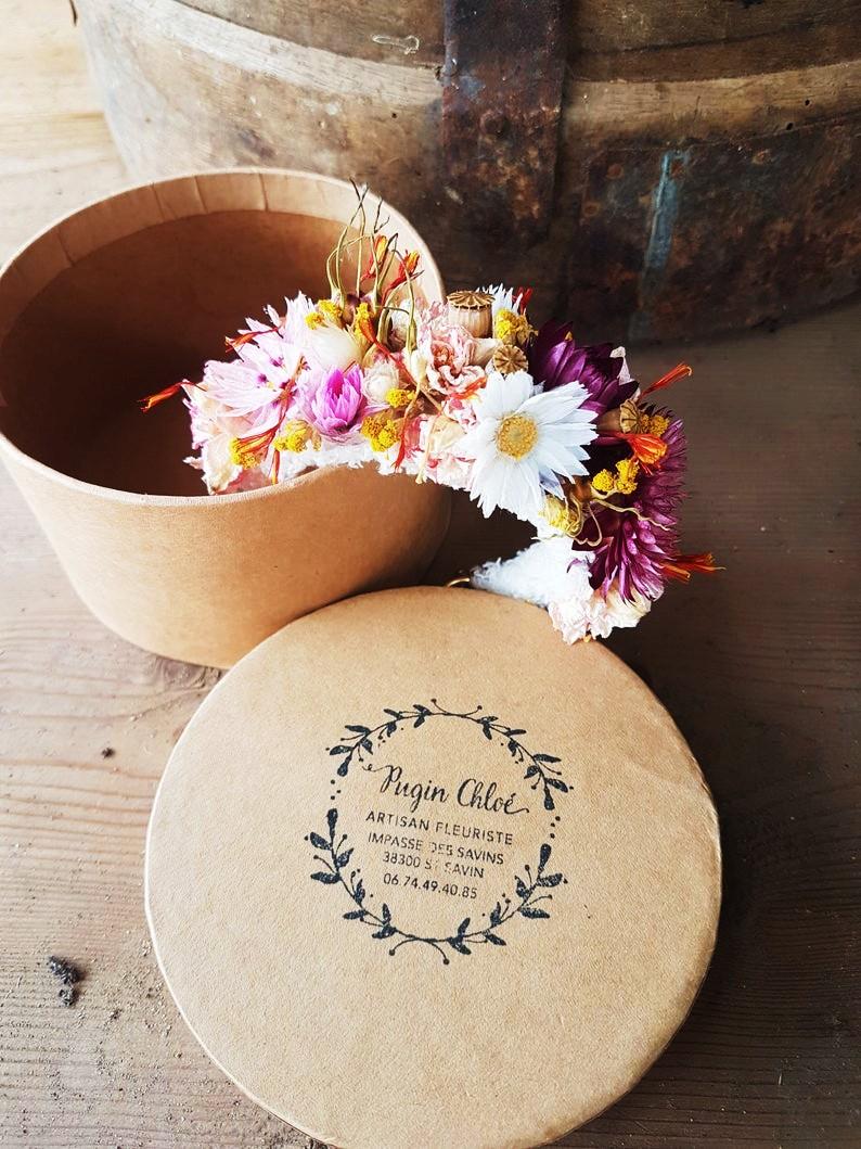 bracelet fleurs sechees mariage estival chloe pugin