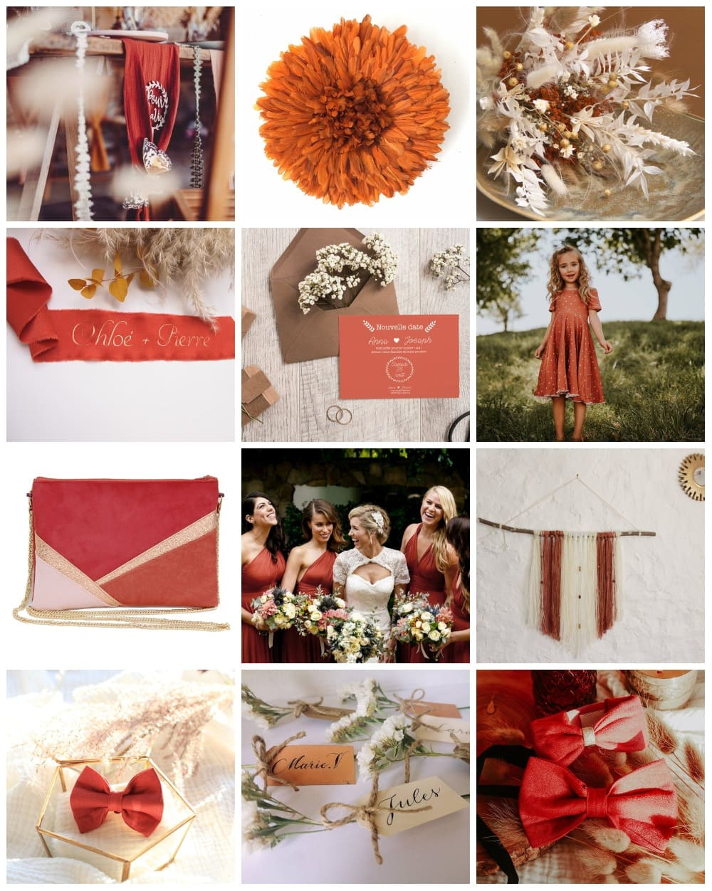 inspiration thème mariage terracotta pronupsims upcycling wedcycling