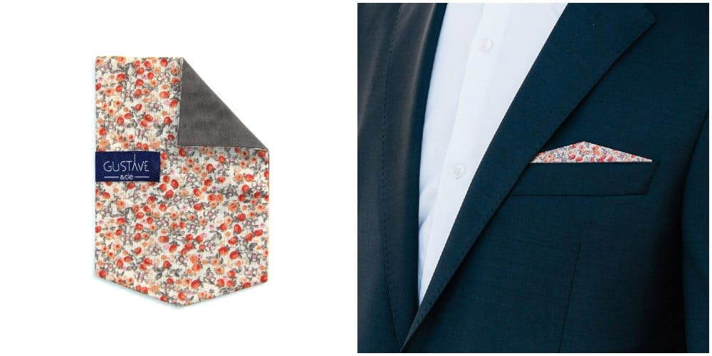 inspiration thème mariage terracotta pronupsims upcycling wedcycling pochette costume gustave et cie