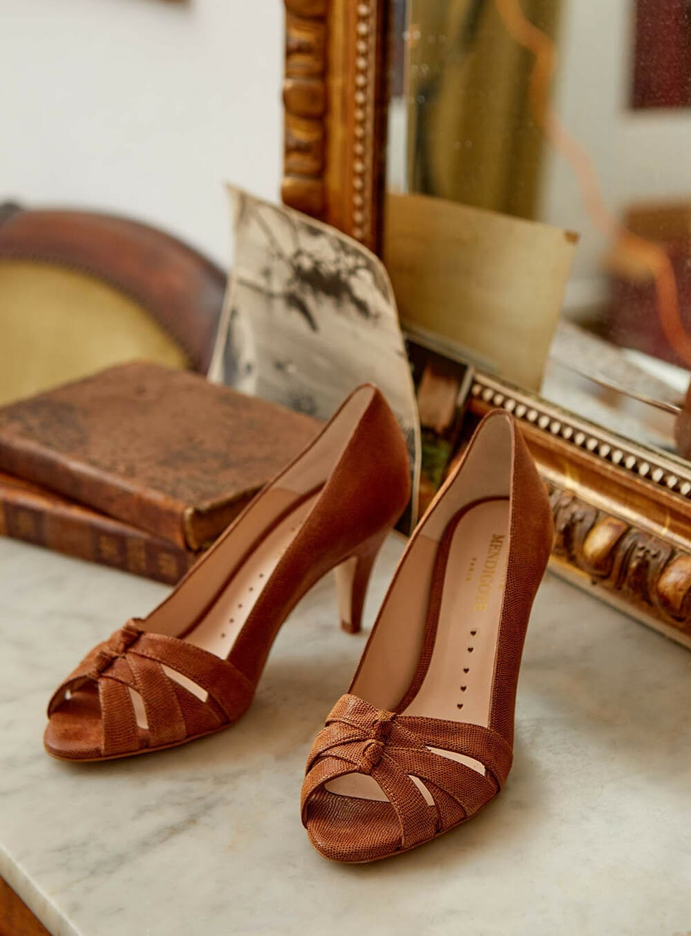 inspiration thème mariage terracotta pronupsims upcycling wedcycling chaussures escarpins