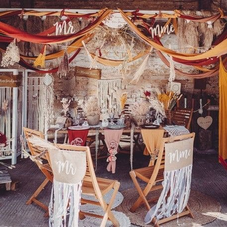 inspiration thème mariage terracotta pronupsims upcycling wedcycling décoration