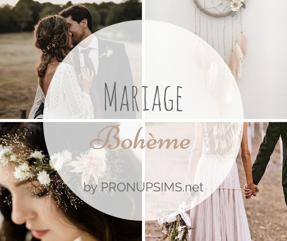 inspiration thème mariage bohème blog