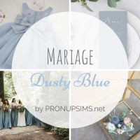 #Inspiration : Mariage Dusty Blue