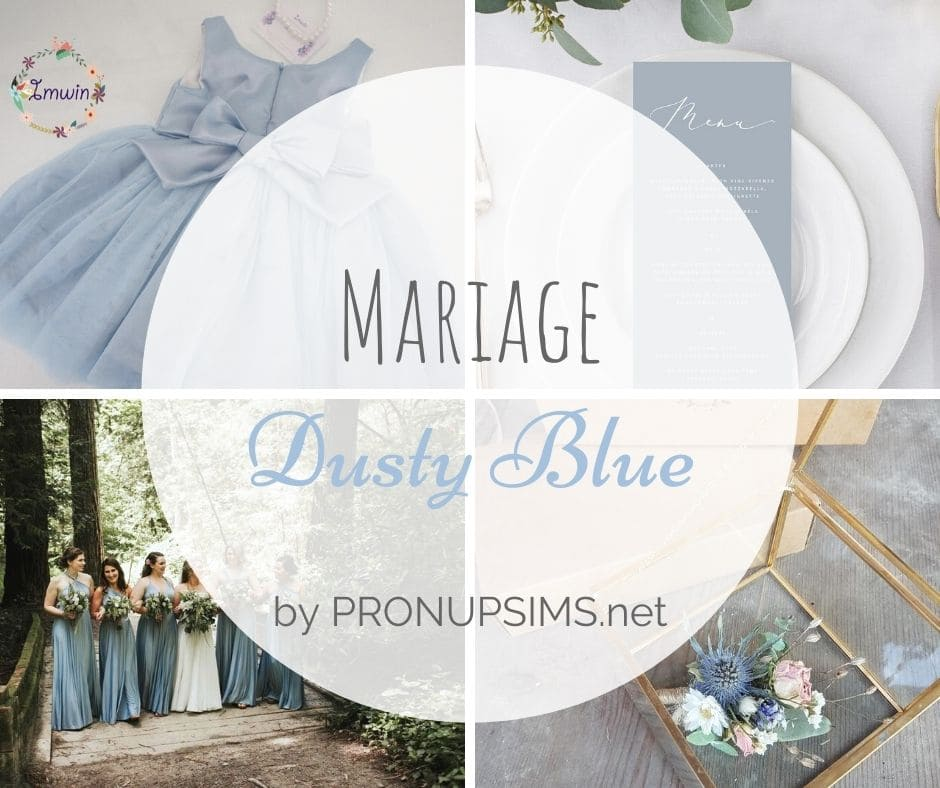 #Inspiration : Mariage Dusty Blue