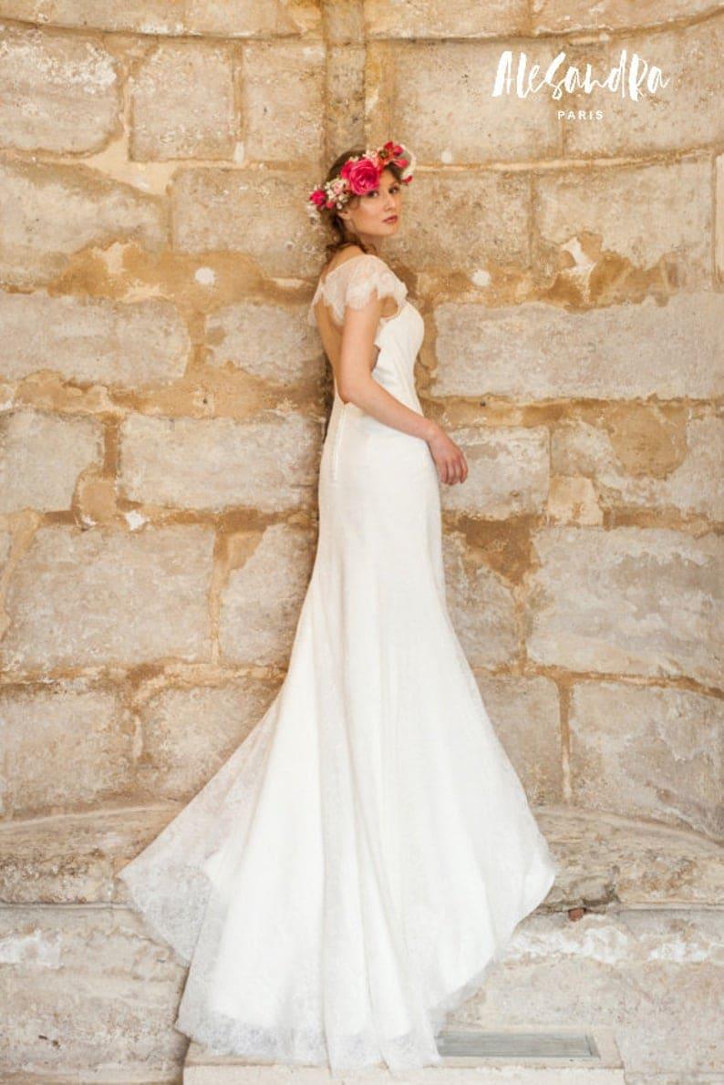 robe de mariée mariage champêtre alesandra paris made in france