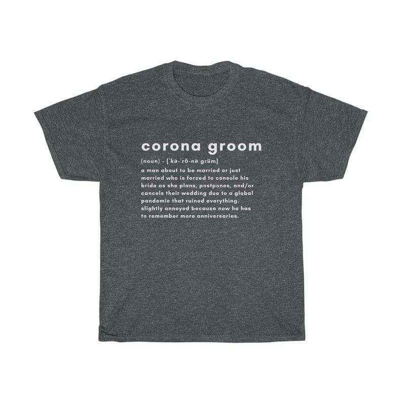evjf evg tshirt corona bride mariage covid groom