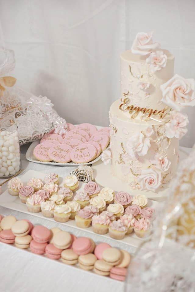 mariage candy bar rose bonbon