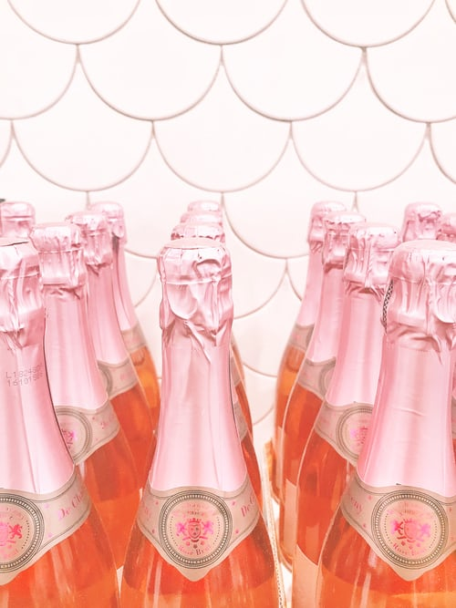 mariage rose champagne