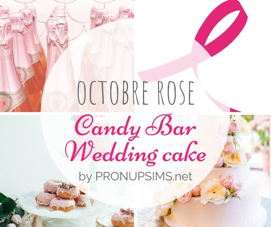 blog mariage gourmandise octobre rose wedding cake candy bar bonbon