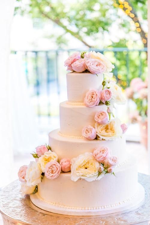 wedding cake gateau rose
