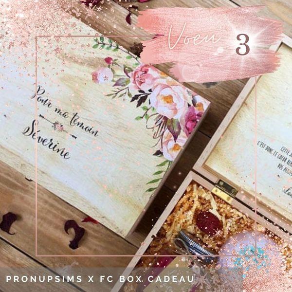 calendrier de l'avent mariage box boite cadeau demande témoin femme