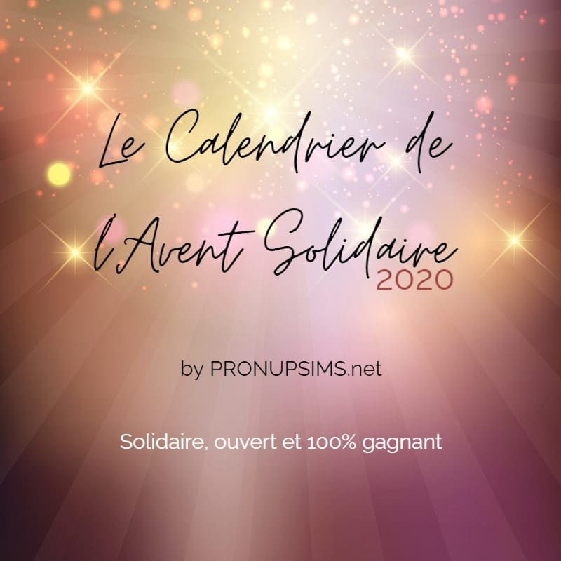Le Calendrier de l'Avent Solidaire by Pronupsims