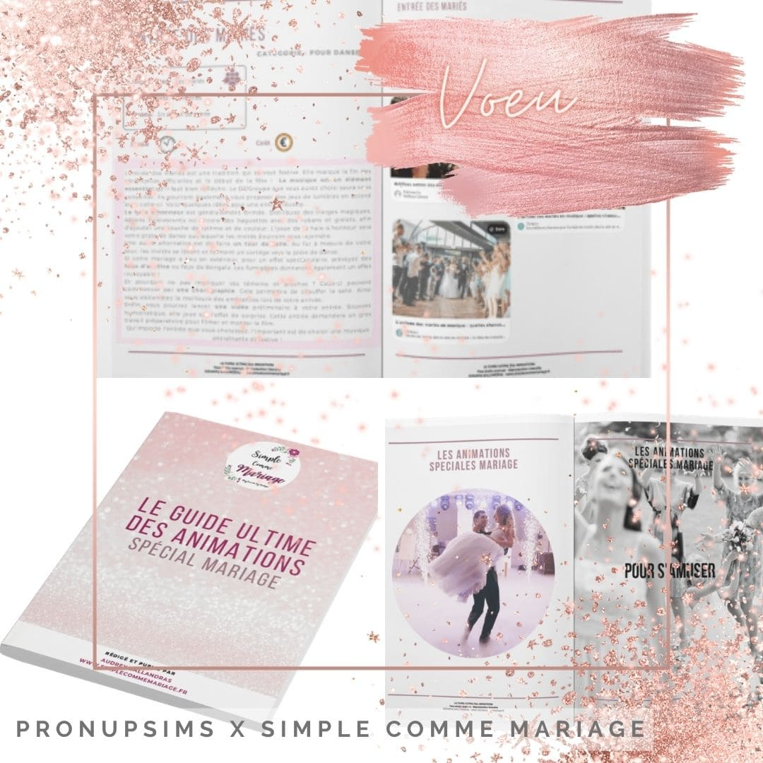 guide animations simple comme mariage